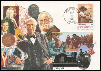 2338 / 22c New Jersey Constitution Ratification 1987 Fleetwood First Day of Issue Maximum Card