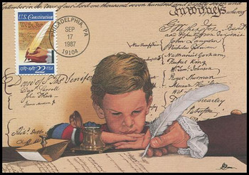 2360 / 22c Signing of U.S. Constitution 1787 : 1987 Centennial Fleetwood 1987 First Day of Issue Maximum Card