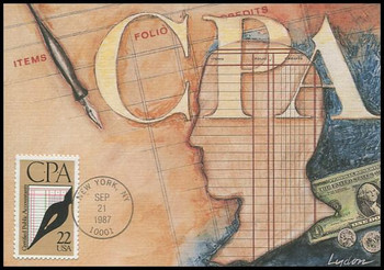 2361 / 22c C.P.A. Certified Public Account 1987 Fleetwood First Day of Issue Maximum Card