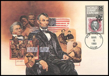 2410 / 25c World Stamp Expo '89 Fleetwood 1989 First Day of Issue Maximum Card