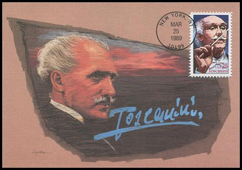 2411 / 25c Arturo Toscanini Performing Arts Series 1989 Fleetwood First Day of Issue Maximum Card
