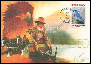 2439 / 25c Idaho Statehood : Statehood Series 1990 Fleetwood First Day of Issue Maximum Card
