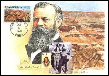 2512 / 25c Grand Canyon Americas Series 1990 Fleetwood First Day of Issue Maximum Card