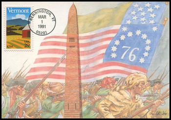 2533 / 29c Vermont Statehood : Statehood Series 1991 Fleetwood First Day of Issue Maximum Card