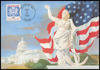 O148 / 23c Official Mail 1991 Fleetwood First Day of Issue Maximum Card