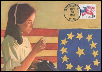 2531 / 29c Flags on Parade : Betsy Ross 1991 Fleetwood First Day of Issue Maximum Card