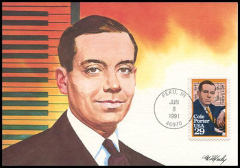 2550 / 29c Cole Porter Performing Arts Series 1991 Fleetwood First Day of Issue Maximum Card