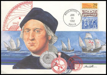 2616 / 29c World Columbian Stamp Expo : Christopher Columbus 1992 Fleetwood First Day of Issue Maximum Card