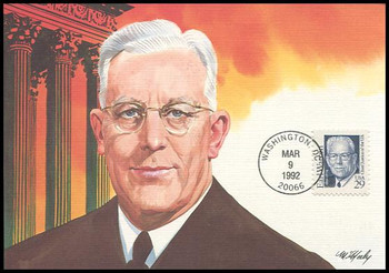 2184 / 29c Earl Warren : Great Americans Series 1992 Fleetwood Maximum Card