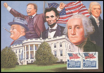 2609 / 29c White House Bicentennial Coil Pair 1992 Fleetwood First Day of Issue Maximum Card