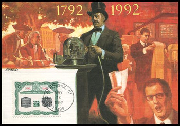 2630 / 29c New York Stock Exchange Bicentennial 1992 Fleetwood First Day of Issue Maximum Card
