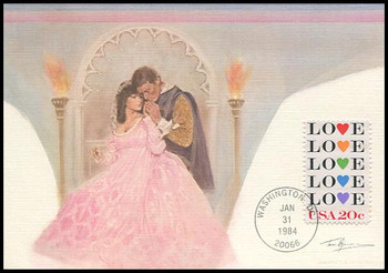 2072 / 20c Love : Love Stamp Series 1984 Fleetwood Maximum Card