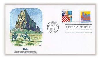 2902B / Butte 5c Non-Denominated Non - Profit Org. Coil 1996 Fleetwood FDC