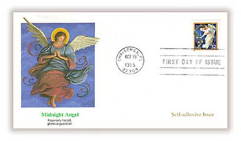 3012 / 32c Midnight Angel : Christmas 1995 Self-Adhesive Issue Fleetwood FDC