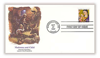 3176 / 32c Madonna and Child by Sano di Pietro Christmas 1997 Fleetwood FDC