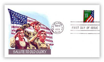 3283 / 33c U.S. Flag over Chalkboard PSA ATM Booklet Single 1999 Fleetwood First Day Cover