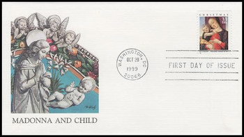 3355 / 33c Madonna & Child : Bartolomeo Vivarini Painting Christmas 1999 Fleetwood First Day Cover