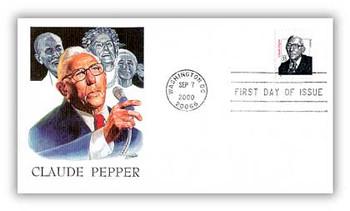3426 / 33c Claude Pepper Senator 2000 Fleetwood First Day Cover