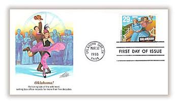 2722 / 29c Oklahoma! Broadway Musicals 1993 Fleetwood FDC