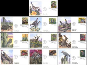 3293a-j / 33c Sonoran Desert : Nature of America Series Set of 10 Fleetwood 1999 FDCs