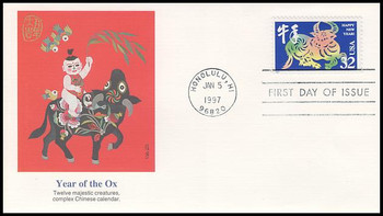 3120 / 32c Year of the Ox - Chinese New Year 1997 Fleetwood First Day Cover