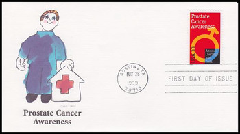 3315 / 33c Prostate Cancer Awareness 1999 Fleetwood First Day Cover