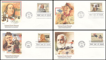 2779 - 2782 / 29c National Postal Museum Set of 4 Fleetwood 1993 FDCs