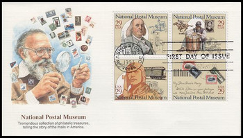 2782a / 29c National Postal Museum Block of 4 Fleetwood 1993 First Day Cover