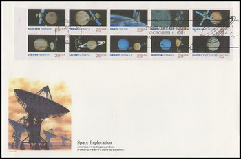 2577a / 29c Space Exploration Booklet of 10 Oversized Large Format 1991 Fleetwood FDC