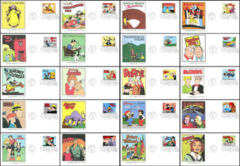3000a - t / 32c Classic Comic Strips Set of 20 Fleetwood 1995 FDCs