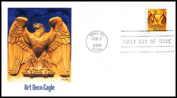 3471 / 55c Art Deco Eagle 2001 Fleetwood First Day Cover