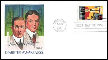 3503 / 34c Diabetes Awareness 2001 Fleetwood First Day Cover
