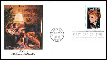 3523 / 34c Lucille Ball : Legends of Hollywood Series 2001 Fleetwood First Day Cover