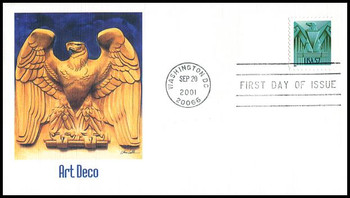 3471a / 57c Art Deco Eagle 2001 Fleetwood First Day Cover