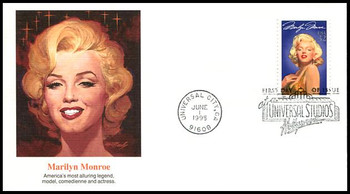 2967 /  32c Marilyn Monroe : Legends of Hollywood  1995 Fleetwood First Day Cover