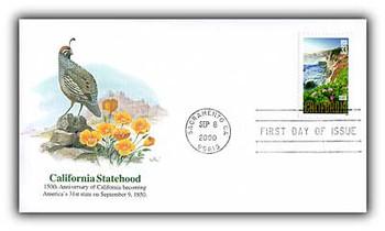 3438 / 33c California Statehood 150th Anniverasary 2000 Fleetwood FDC