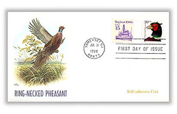3055 / 20c Ring-Necked Pheasant PSA Coil 1998 Fleetwood FDC