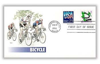 3229 / Green Bicycle 10c Non-Denominated Presorted Coil (APC) 1998 Fleetwood FDC
