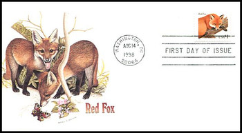3036 / $1 Red Fox 1998 Fleetwood First Day Cover