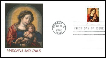 3675 / 37c Madonna and Child PSA Booklet Single : Christmas Series 2002 Fleetwood First Day Cover