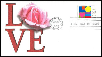 3658 / 60c Love PSA : Love Stamp Series 2002 Fleetwood First Day Cover