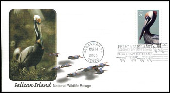 3774 / 37c Pelican Island National Wildlife Refuge 2003 Fleetwood First Day Cover