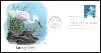 3829 / 37c Snowy Egret Coil 2003 Fleetwood First Day Cover