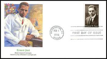 3058 / 32c Ernest E. Just : Marine Biologist : Black Heritage Series Fleetwood 1996 FDC