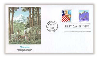 2904A / 5c Non-Denominated Mountain Coil 1996 Fleetwood FDC