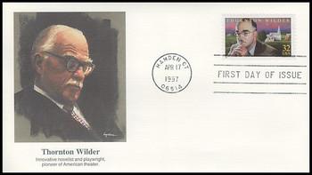 3134 / 32c Thornton Wilder : Novelist and Playwright 1997 Fleetwood FDC
