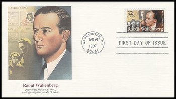 3135 / 32c Raoul Wallenberg : Swedish Diplomat 1997 Fleetwood FDC