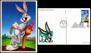 UX281 / 20c Bugs Bunny : Looney Tunes Series 1997 Fleetwood FDC Postal Card