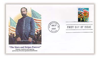 3153 / 32c The Star and Stripes Forever 1997 Fleetwood FDC