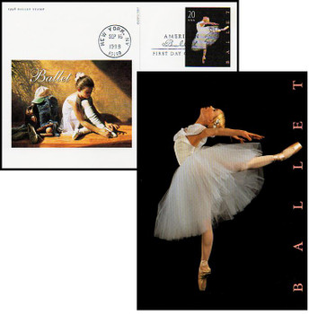 UX297 / 20c American Ballet 1998 Fleetwood Postal Card FDC